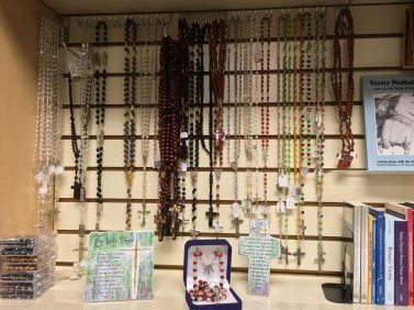 Large assortment of rosaries. New coming in every day.
